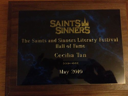 Saints & Sinners Hall of Fame plaque