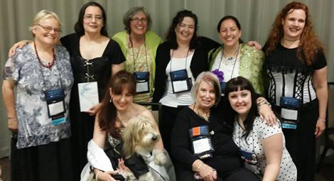 All the authors from the BDSM Meetup! Kallypso Masters, Cecilia Tan, Tilly Green, Sasha White, Ann Mayburn, Annabel Joseph, Collete Saucier, Desiree Holt, Sidney Bristol