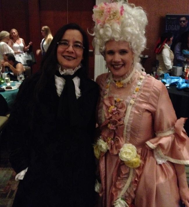 Me and Annabel Joseph, having a Marie Antoinette moment.
