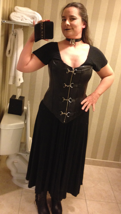 cecilia tan leather corset