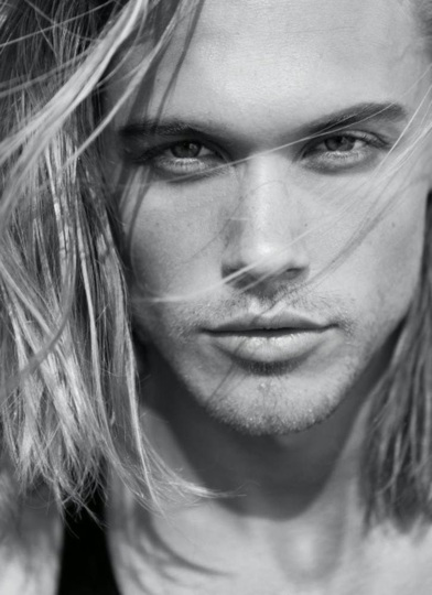 A random blond model with a very Axel expression on his face.