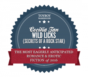 Badge/Award Most Eagerly Awaited Erotic Romance of 2016: Wild Licks by Cecilia Tan
