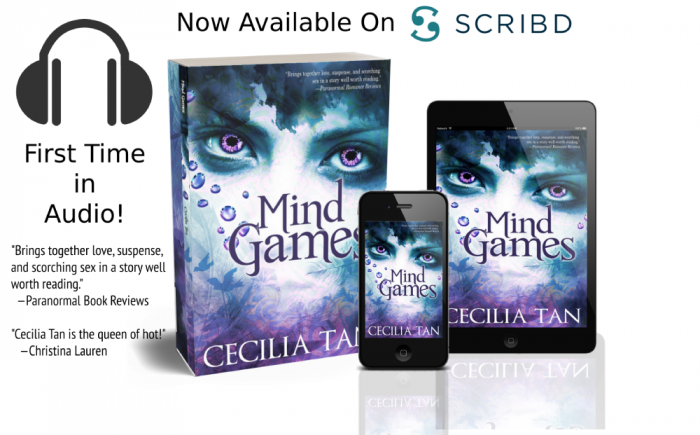 Mind Games by Cecilia Tan depicted as ebook and paperback